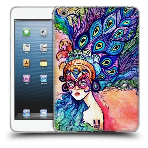 Etui silikonowe na tablet - masquerade blue feathers marki Head case