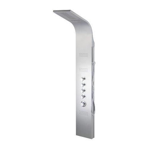 Panel natryskowy srebrny a-025 akoja wersja termostat marki Corsan