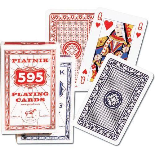 """Karty """"595"""" PIATNIK /czerwony rewers/"""