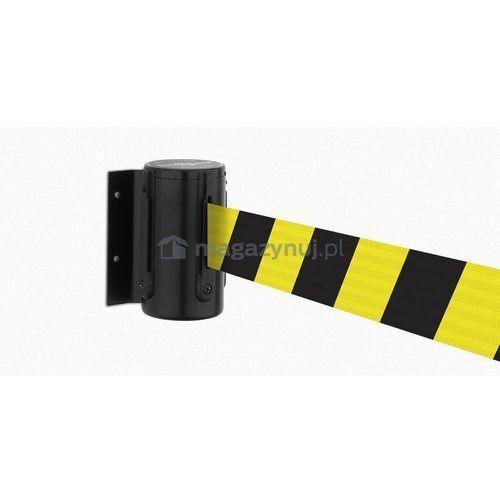 Rozwijana taśma ostrzegawcza + kaseta MINI na śruby, zapięcie przeciwpaniczne (Długość 2,3 m)