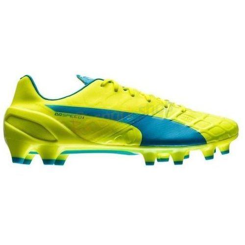 Buty piłkarskie korki evoSPEED 1.4 FG Puma (zielono-niebieskie)