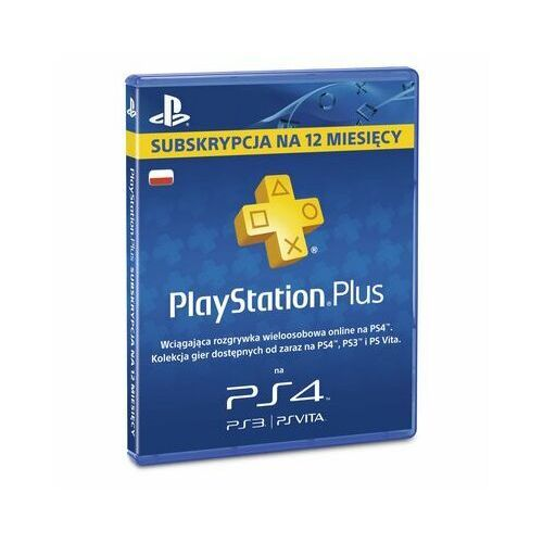 Karta pre-paid sony playstation plus 12 miesięcy marki Sony computer entertainment