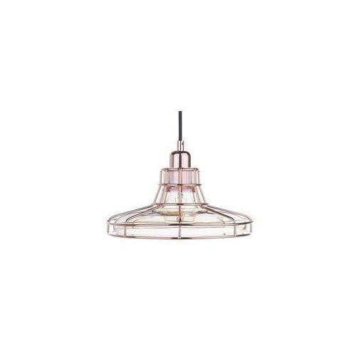 Lampa wisząca szklana miedziano-bursztynowa TORRE, kolor Miedziany