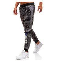 Spodnie męskie dresowe joggery grafitowe Denley KK517, dresowe