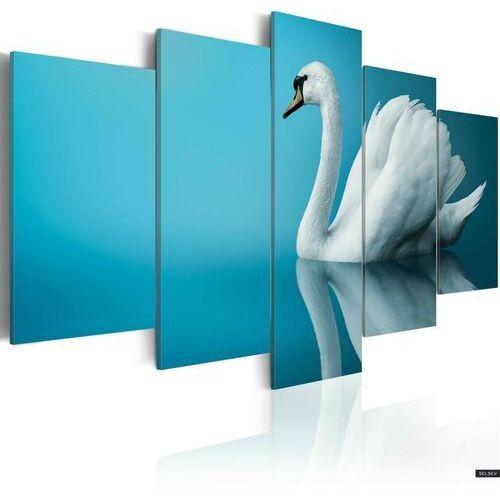 SELSEY Obraz - Łabędź w błękicie 100x50 cm