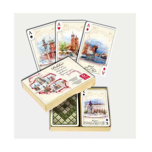 Karty do gry. Polska Akwarele komplet brydżowy 55 listków, AM_5901911001627