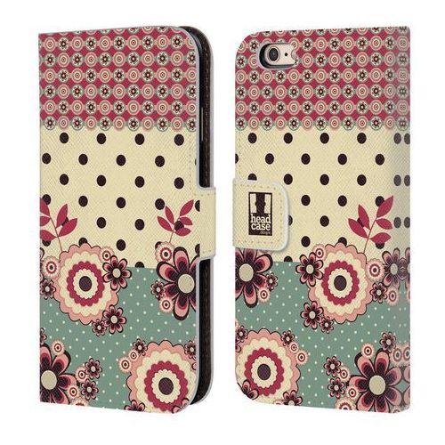 Etui portfel na telefon - floral dots pink cream marki Head case