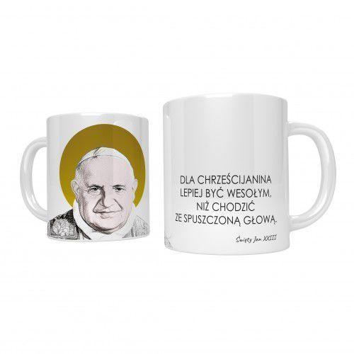 Produkt polski Kubek ceramiczny święty jan xxiii, złocona aureola