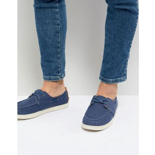 TOMS Canvas Boat Shoes In Navy - Navy