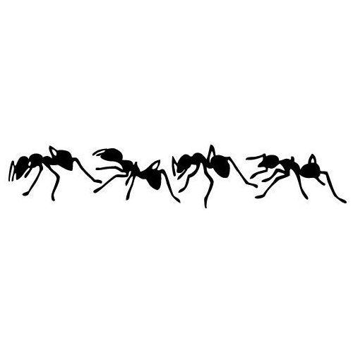 Szabloneria Naklejka dekoracyjna mrówki