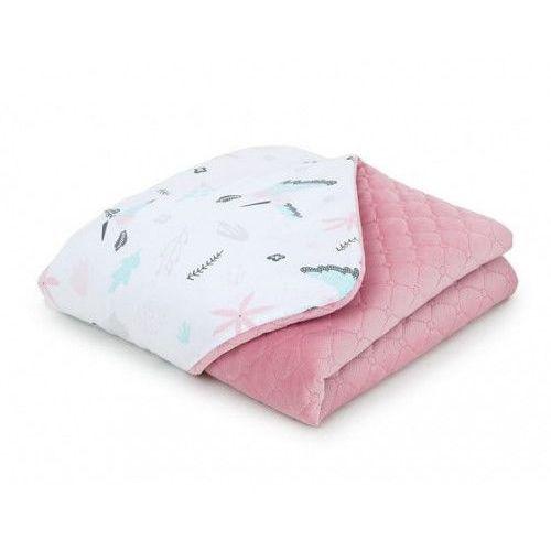 Kocyk dla niemowląt i dzieci velvet pikowany dwustronny 75x100 - Koliberki - Rożany, KOC M-T VELVET 2102