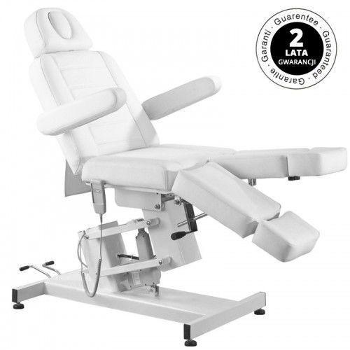 Activeshop Fotel kosmetyczny elektr. azzurro 706 pedi 1 siln. biały