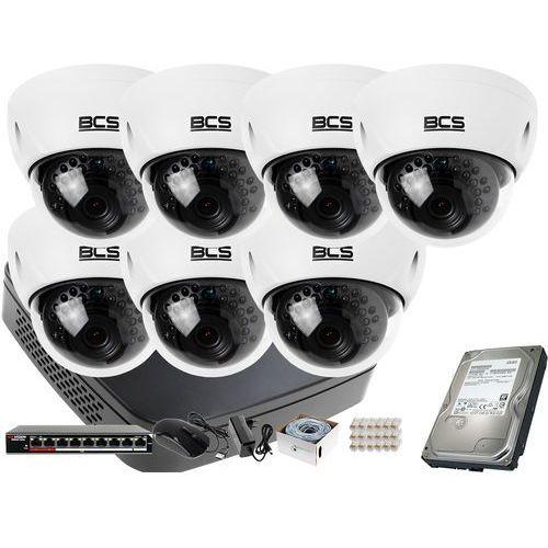 7x -dmip3200ir-e-iv bcs bcs-nvr08015me-ii zestaw monitoringu dysk 1tb akcesoria marki Bcs