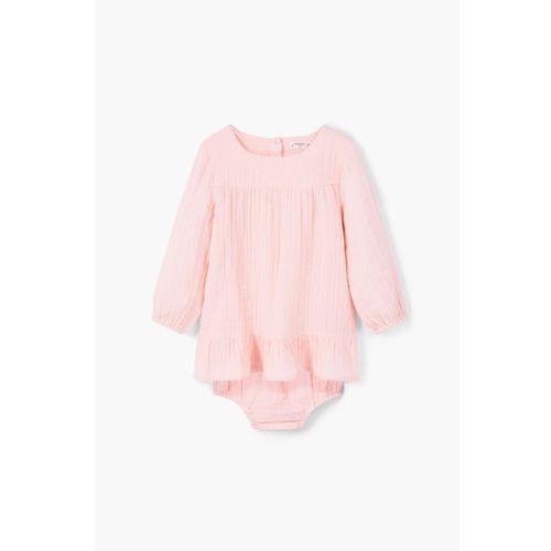 Mango Kids – Komplet sukienka i majtki dziecięce Celia 62-80 cm