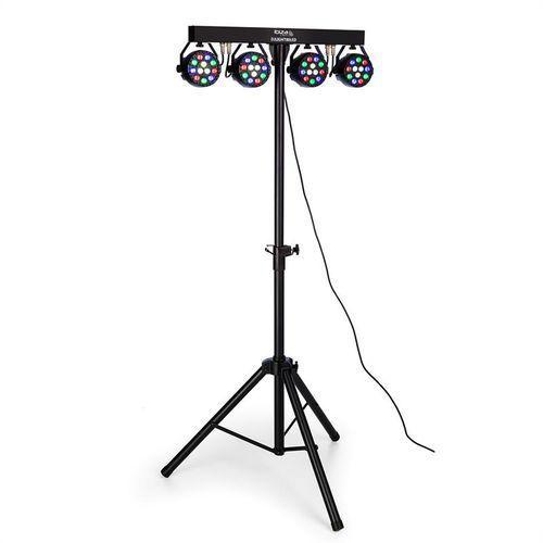 djlight80led statyw oświetleniowy z reflektorami 4 x 1w rgbw-led marki Ibiza