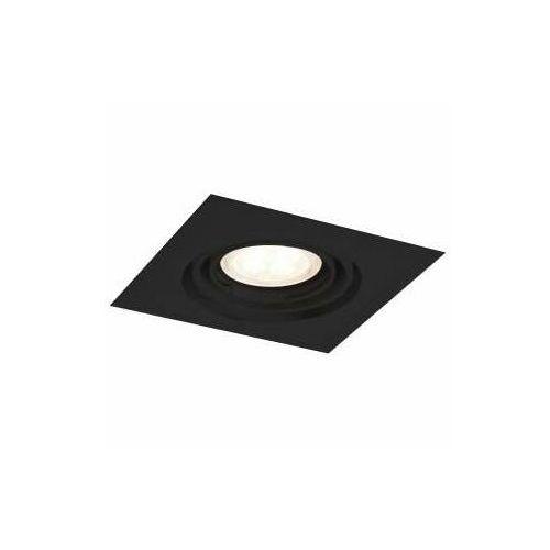 Wpust lampa sufitowa ebino h 3345 kwadratowa oprawa wpuszczana metalowa czarna marki Shilo