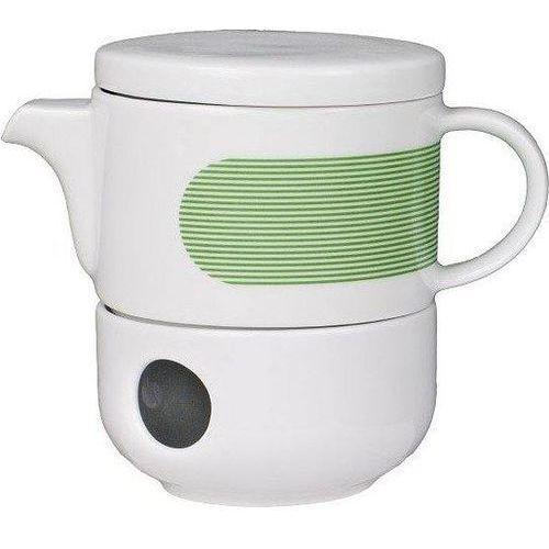 Cmielow design studio Dzbanek z podgrzewaczem new atelier mix & match zielony (5903353489957)