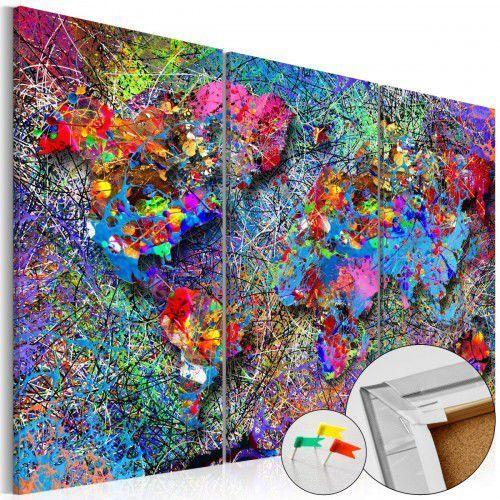 Artgeist Obraz na korku - kolorowe kłębowisko [mapa korkowa]