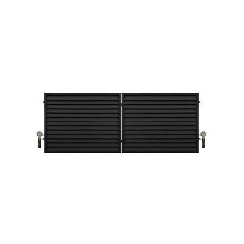Brama dwuskrzydłowa kreta 400 x 150 cm z automatem marki Polbram
