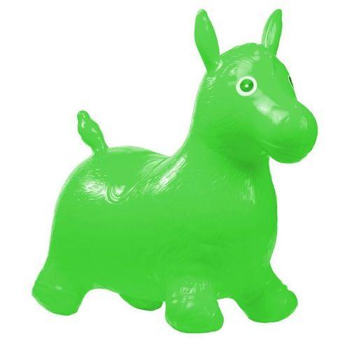 Skoczek gumowy do skakania koń - zielony