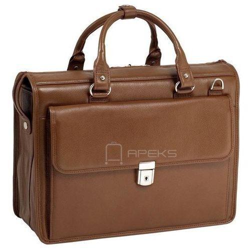 """Mcklein gresham skórzana teczka / torba na laptopa 15,6"""" - brązowy"""