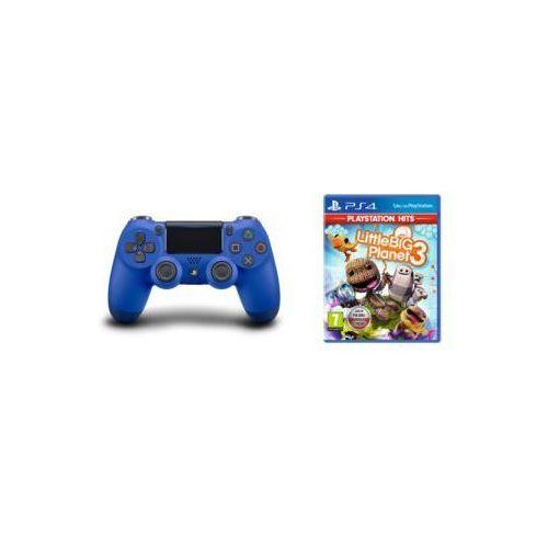 Kontroler bezprzewodowy SONY PlayStation DUALSHOCK 4 v2 Niebieski + LittleBigPlanet 3