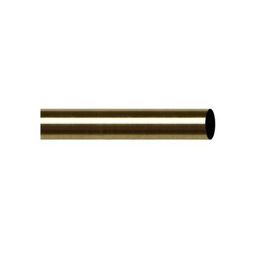Drążek do karnisza 160 cm antyczny mosiądz 19 mm metalowy INSPIRE (5901171246592)