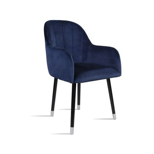 Krzesło BESSO granatowy/ noga czarny silver/ SO263