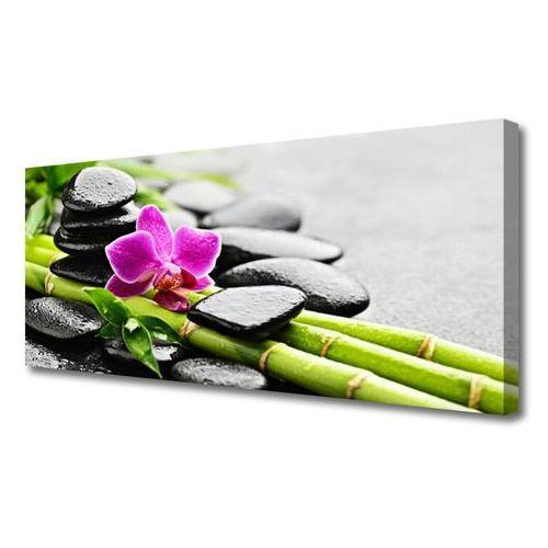 Obraz na płótnie bambus kwiat kamienie sztuka marki Tulup.pl