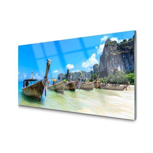 Tulup.pl Obraz akrylowy łódka morze plaża krajobraz