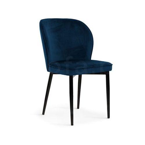 """Krzesło """"TWINS II"""" granatowe, kolor niebieski"""