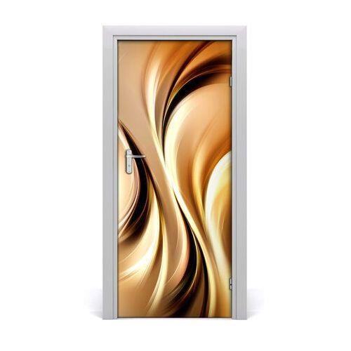 Naklejka samoprzylepna na drzwi abstrakcyjne fale marki Tulup.pl
