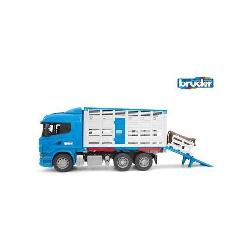 Bruder scania r-serie cattle transportation truck with 1 (4001702035495)