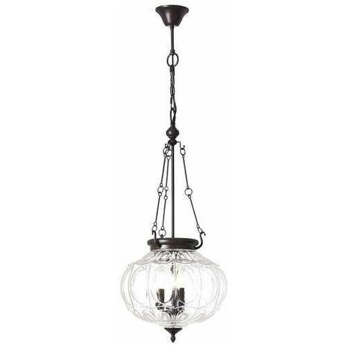 Brilliant Helyn 90918/20 lampa wisząca zwis 3x60W E14 brązowy/Transparentny (4004353336393)