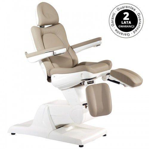 Activeshop Fotel kosmetyczny elektr. azzurro 870s pedi 3 siln. cappuccino