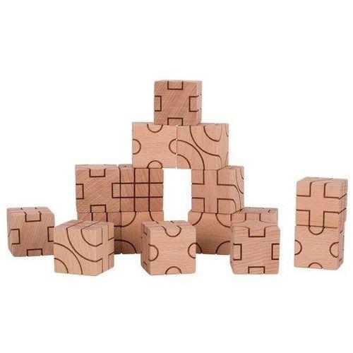 Klocki sześcienne geometryczne naturalne GOKI-58754 (4013594587549)