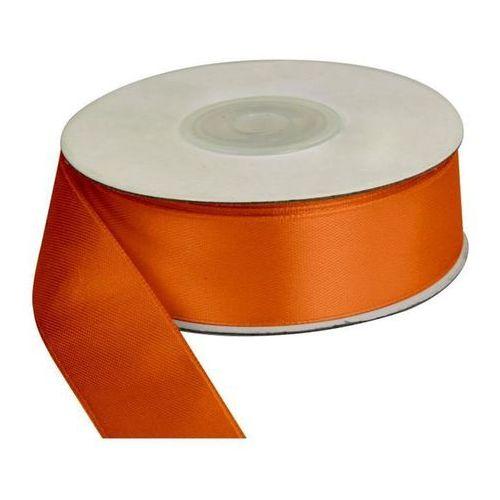 Wstążka pomarańcz, 25m dł x 25mm szer, CRAFT-FUN - pomarańczowy (5907437671207)