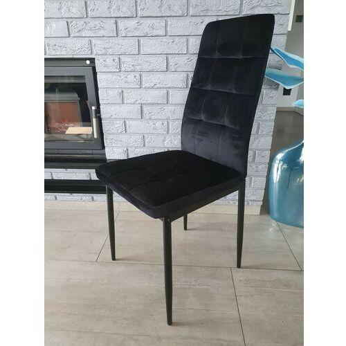 Krzesło tapicerowane - big 011 welur czarne marki Zona meble