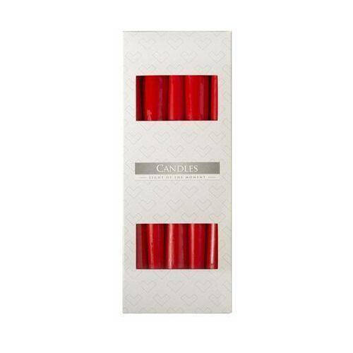 Świeca stożek 24,5cm czerwona. Pakowana po 10 szt. Czas palenia 7h