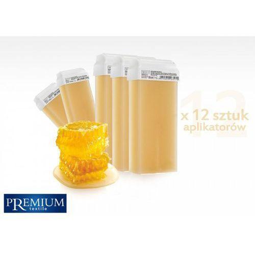 Zestaw gabinetowy woski do depilacji miele z szeroką rolką 80ml x 12 szt marki Premium textile