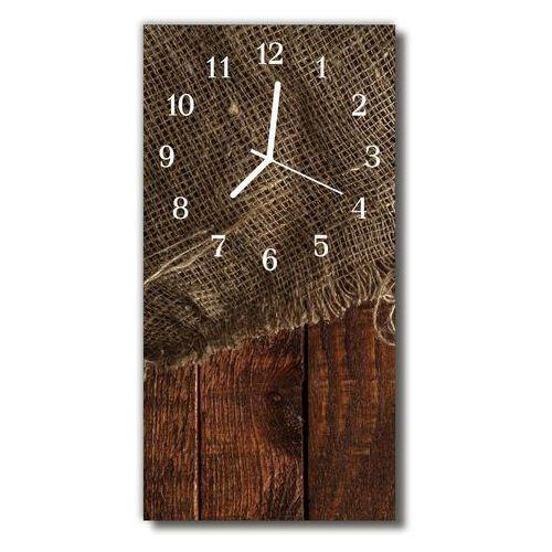 Zegar Szklany Pionowy Sztuka Płótno drewno brązowy, kolor brązowy