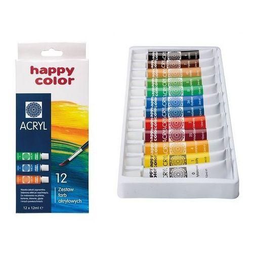 Farba akrylowa zestaw 12 kolorów (5905130007385)