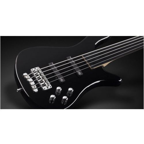 streamer lx 5-str. solid black high polish, fretless gitara basowa marki Rockbass