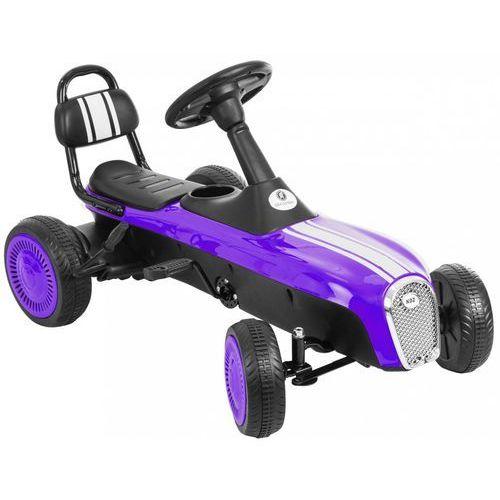 Gokart na pedały KIDZ MOTION RETRO jeździk dla dzieci 3-8 lat Fioletowy + DARMOWY TRANSPORT! (5906395302970)