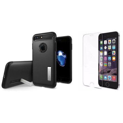 Zestaw   Spigen SGP Slim Armor Black   Obudowa + Szkło ochronne Perfect Glass dla modelu Apple iPhone 7 Plus