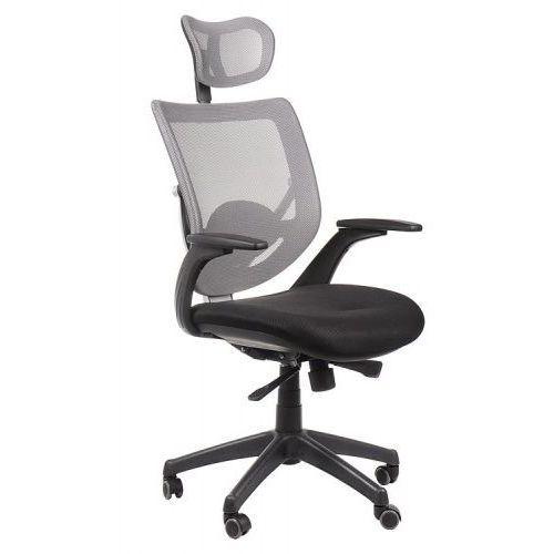 Fotel biurowy gabinetowy kb-8904/szary - krzesło obrotowe marki Stema - kb