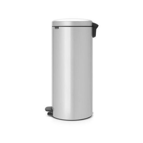 Kosz na śmieci pedałowy NewIcon 30l z metalowym wiaderkiem met. szary (8710755114724)
