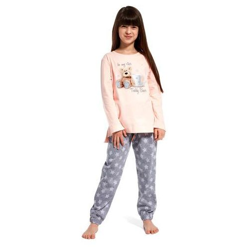 Piżama Cornette Kids Girl 780/84 Be My Star dł/r N 98-104, różowy, Cornette, 762025324