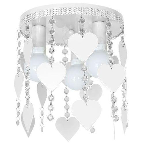 Milagro Plafon lampa sufitowa corazon mlp 1148 okrągła oprawa dziecięca serca crystal białe