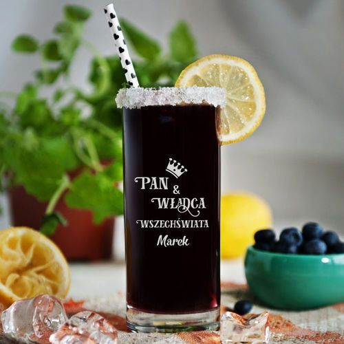 Mygiftdna Pan i władca - grawerowana szklanka do drinków - szklanka